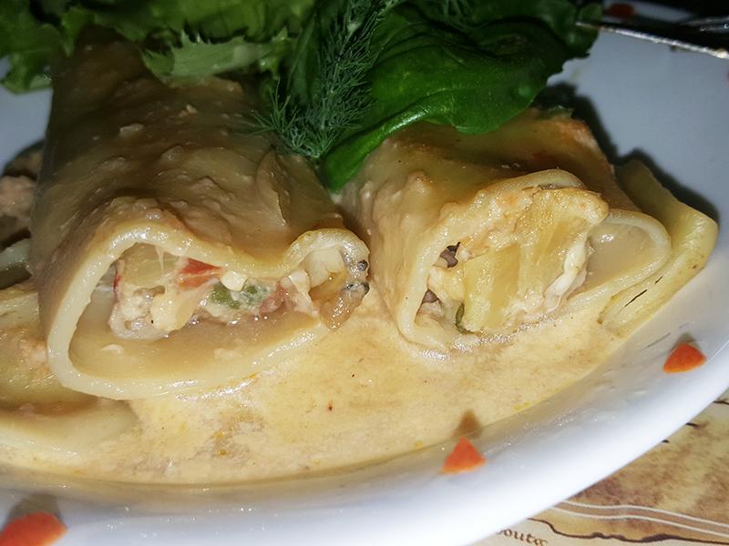 cannellonis ouassous gratinés au lambi-saveurs antillaises