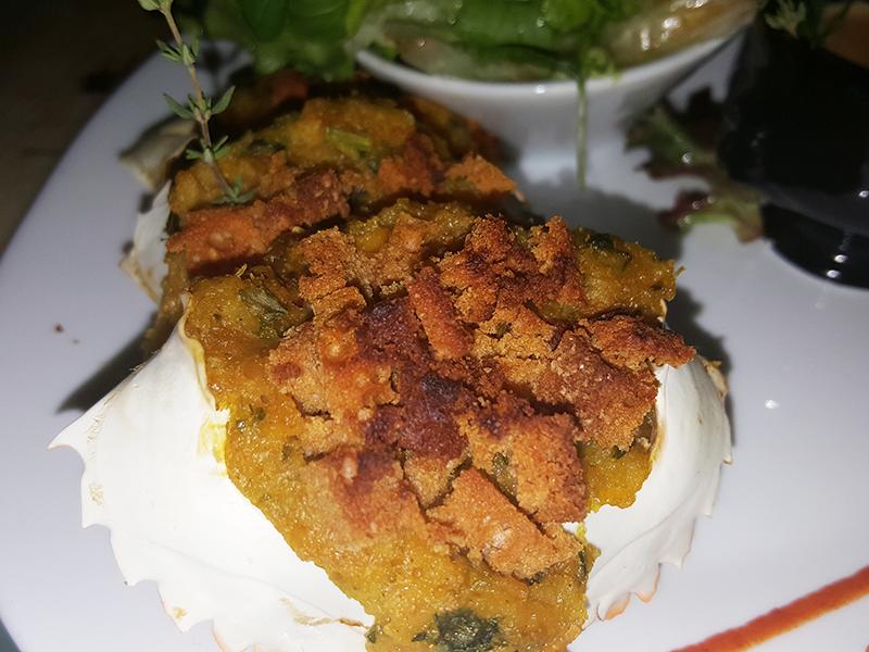 Crabe cake en crumble de pain d'épices
