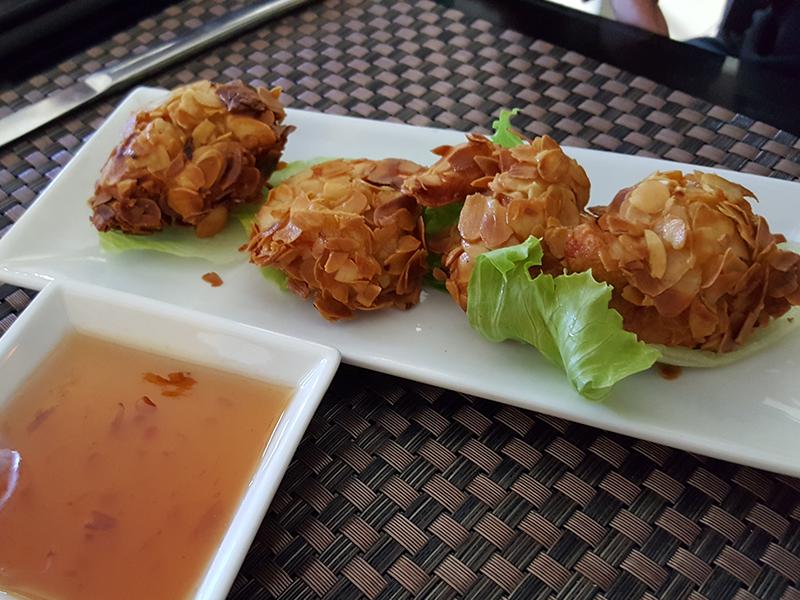 Crevettes aux amandes